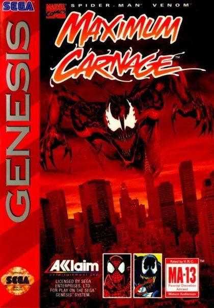 Spider-Man & Venom: Maximum Carnage (Genesis / Mega Drive ...